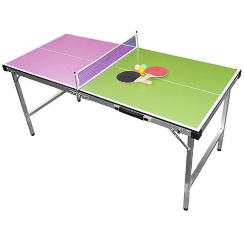 ビーアクティブ(Be Active) コンパクト卓球台 ピンク&グリーン BA-6356 卓球 レジャー 練習用 ファミリー用
