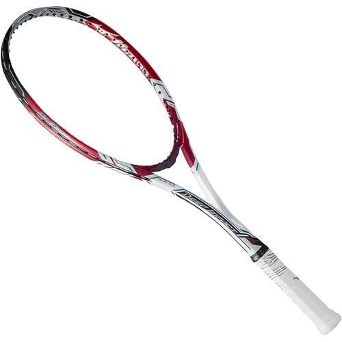 ミズノ(MIZUNO) ソフトテニス ラケット ディーアイ T500 ソリッドホワイト×レッド 63JTN74562 テニス 軟式ラケット 未張り上げ