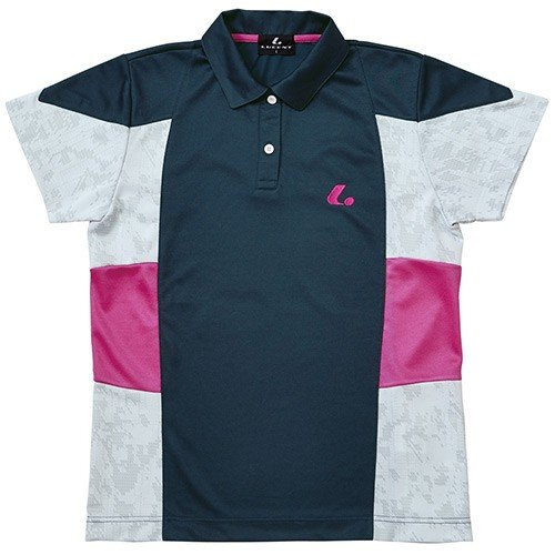 ルーセント(LUCENT) レディース テニス ゲームシャツ ネイビー XLP4766 NV テニスウェア ソフトテニスウェア トレーニングウェア