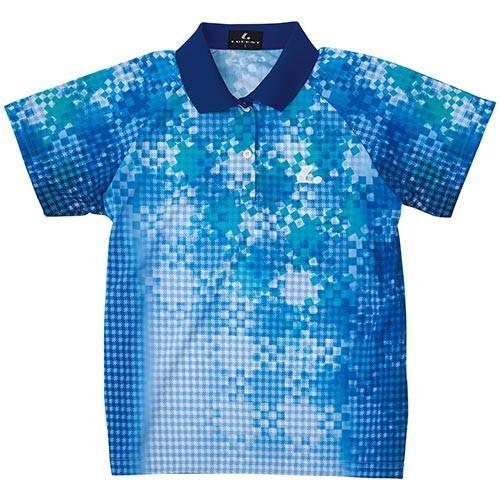 ルーセント(LUCENT) レディース テニス ゲームシャツ ブルー XLP4797 BL テニスウェア ソフトテニスウェア トレーニングウェア