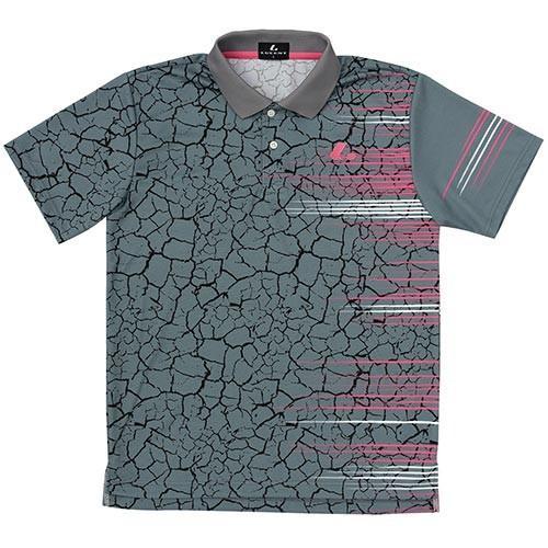 ルーセント(LUCENT) メンズ レディース ジュニア テニス ゲームシャツ グレー XLP8453 GY テニスウェア ソフトテニスウェア トレーニングウェア ユニセックス