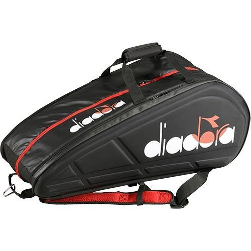 ディアドラ(diadora) メンズ テニス TEAM ラケットバッグ 9 ブラック DTB9680 99 テニスバッグ ラケットケース 9本用 鞄 ラケットスポーツ