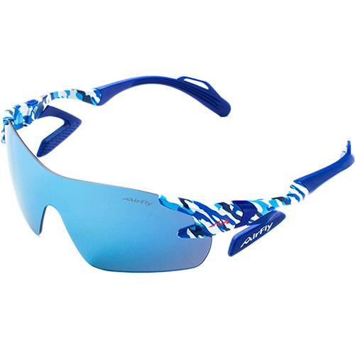 ジゴスペック(ZYGOSPEC) スポーツサングラス エアフライ AirFly ブルーカモフラージュ/ブルーミラー AF-301 C-4 サングラス ランニング ゴルフ サイクリング