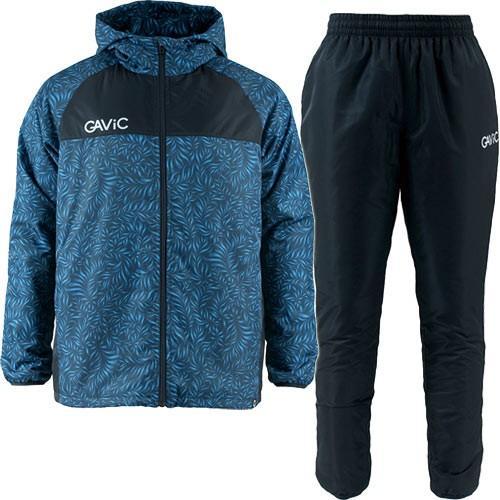 ガビック(GAVIC) ジュニア サッカー ボタニカル昇華ピステスーツ 中綿 ネイビー GA1545 フットサル トップス ロングパンツ スーツ 上下セット