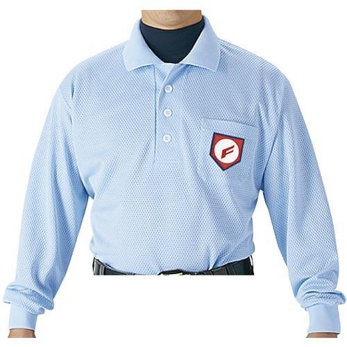 エスエスケイ(SSK) 審判用長袖ポロシャツ UPW028 パウダーブルー 野球 審判用品 ウエア