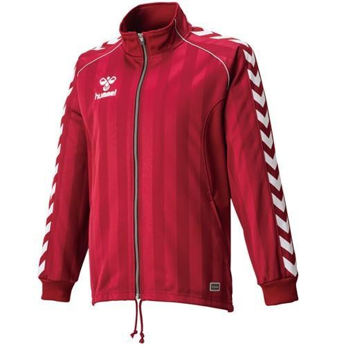 ヒュンメル(hummel) ウォームアップジャケット HAT2059 クラレット サッカー フットサル トレーニングウェア 長袖 ジャージ