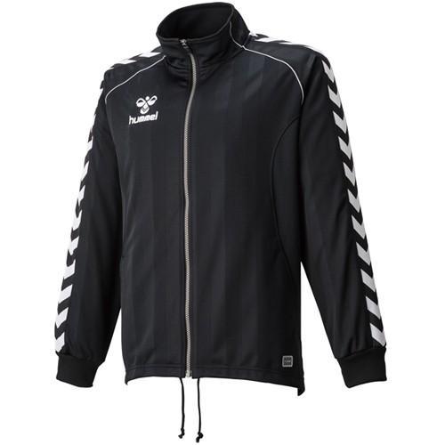 ヒュンメル(hummel) ウォームアップジャケット HAT2059 ブラック サッカー フットサル トレーニングウェア 長袖 ジャージ