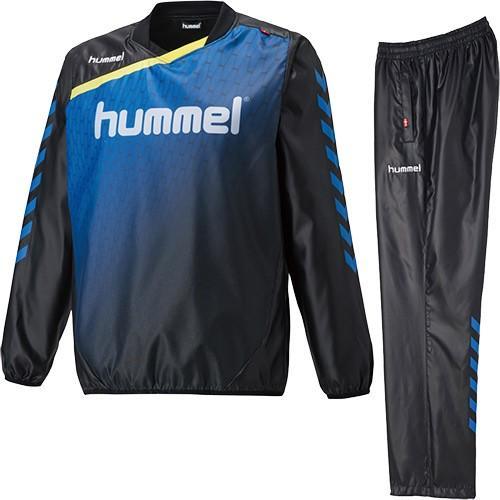 ヒュンメル(hummel) ジュニア トライアル スーツ ブラック/ロイヤルブルー HJW4174SP 9063 サッカー・フットサル・ハンドボール 子供用 トレーニングウェア