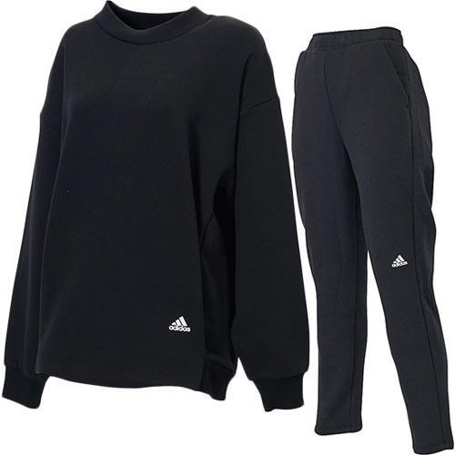 アディダス(adidas) レディース W スポーツウェア 上下セット S2S スウェット クルー & パンツ ブラック/ブラック FYJ95 ED1513/FYJ97 ED1530 eSPORTS PayPayモール店 - 通販 - PayPayモール