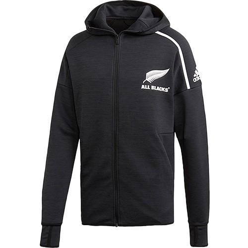 アディダス(adidas) メンズ ラグビー オールブラックス アンセムジャケット ブラック EKX89 CW3147 ウェア トレーニング アウター ハイネック フード