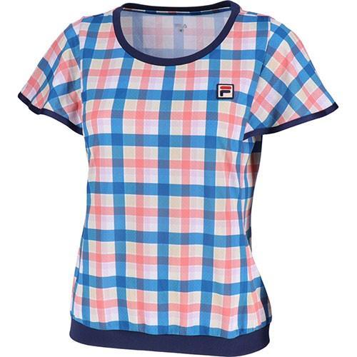 フィラ(FILA) レディース テニス 91 ゲームシャツ ディプウォーター VL1959 09 テニスウェア 半袖 Tシャツ トップス 練習 試合 ゲームシャツ