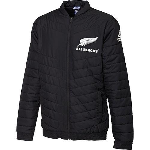 アディダス(adidas) メンズ ラグビー オールブラックス サポータースタジアムジャケット ブラック FXK28 DY3831 中綿 防寒 トップス