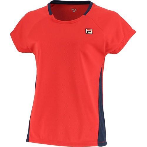 フィラ(FILA) レディース テニスウェア 93 ゲームシャツ フィラレッド VL1995 11 練習着 ゲームウェア 半袖 ソフトテニス