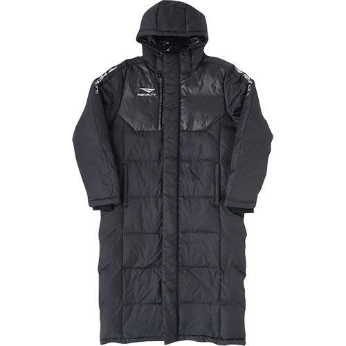 ペナルティ(PENALTY) メンズ サッカーウェア ダウンロングコート ブラック PO9412 30 ベンチコート 防寒 部活 スポーツ観戦