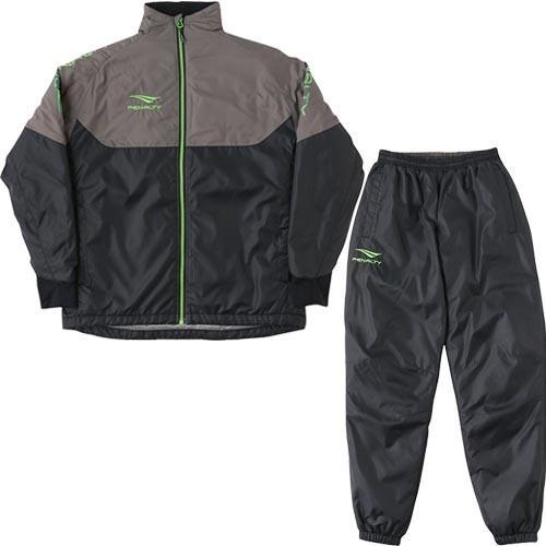 ペナルティ(PENALTY) ジュニア サッカーウェア ウォーマースーツ ブラック PO9516J 30 上下セット トレーニングウェア 防寒 部活