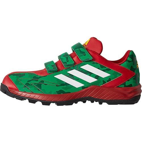 アディダス(adidas) メンズ トレーニングシューズ アディピュア TRV ダークグリーン/クリスタルホワイト/パワーレッド CEG31 B75787 野球 トレーニング