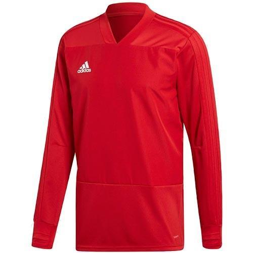 アディダス(adidas) サッカー フットサル メンズ トップス CONDIVO18 トレーニングトップ1 パワーレッド/ホワイト DJV18 CG0382 トレーニングウェア