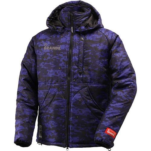 グランデ(GRANDE) DISITAL CAMO QUILT フーデットジャケット GFPH15508 NAVY サッカー フットサル トレーニングウェア パーカー