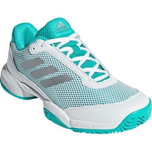 アディダス(adidas) ジュニア テニス シューズ バリケード クラブ Barricade Club xJ ハイレゾアクア/ホワイト/マットシルバー EFX79 BB7934 オールコート用