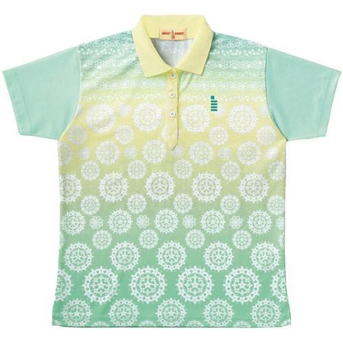 ゴーセン(GOSEN) テニス レディース ゲームシャツ シャーベットグリーン T1401 44 テニスウェア バドミントンウェア 半袖 ポロシャツ トップス