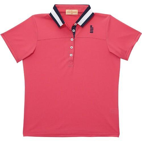 ゴーセン(GOSEN) テニス レディース ゲームシャツ ローズピンク T1407 89 テニスウェア バドミントンウェア 半袖 ポロシャツ トップス
