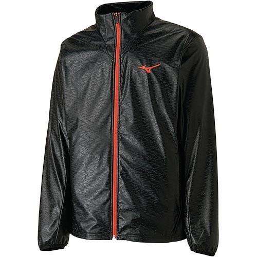 ミズノ(MIZUNO) メンズ レディース テニスウエア テックシールドウィンドブレーカーシャツ ブラック 62JE8511 09 長袖 テニスウェア 防寒 スポーツウェア