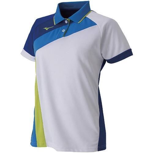 ミズノ(MIZUNO) レディース ラケットスポーツ ゲームシャツ ホワイト 62JA9215 71 ユニフォーム テニス バドミントン 卓球 半袖 練習着 試合着