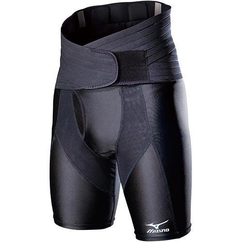 ミズノ(mizuno) ゴルフ専用 メンズ 腰サポーター スパッツ付き ブラック 52JJ5A9009 ゴルフ ゴルフ用品 腰用 消臭
