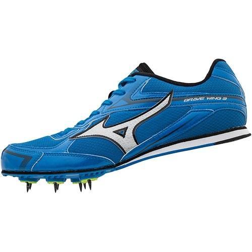 ミズノ(MIZUNO) 陸上用 スパイク シューズ メンズ レディース ブレイブウィング BRAVE WING 3 ブルー×シルバー U1GA183003 陸上競技 陸上シューズ 靴