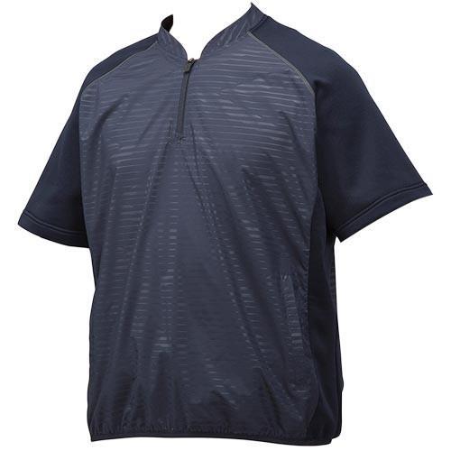 ミズノ(MIZUNO) メンズ ベースボール ハイブリッドハーフZIPジャケット ネイビー 12JE8V4814 野球 ウェア ジャケット 半袖