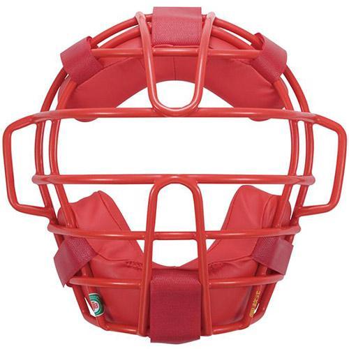 ミズノ(MIZUNO) 軟式マスク 17 62/レッド 1DJQR12062 野球 軟式用 キャッチャーマスク 防具