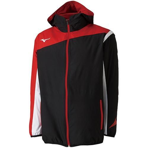 ミズノ(MIZUNO) メンズ レディース テニス ウィンドブレーカーシャツ ブラック 62JE800109 テニスウェア バドミントンウェア ジャケット フーディ