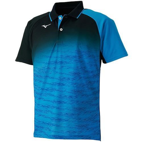 ミズノ(MIZUNO) メンズ テニス ゲームシャツ 62JA850824 ディーバブルー テニスウェア 半袖 ポロシャツ トップス スポーツウェア