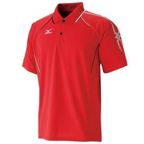 ミズノ(MIZUNO) ゲームシャツ 62MA501862 レッド×シルバー×ブラック テニス トレーニングウェア メンズ 半袖