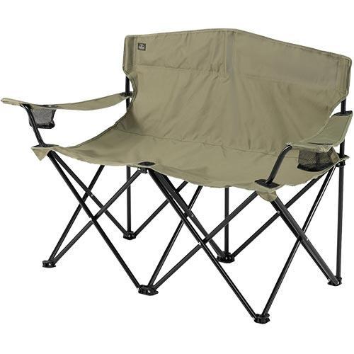 バンドック BUNDOK アウトドア ツインチェア カーキ BD-121 KA バーベキュー キャンプ イス 2人掛け 椅子 アウトドアチェア レジャー 毎日続々入荷 税込