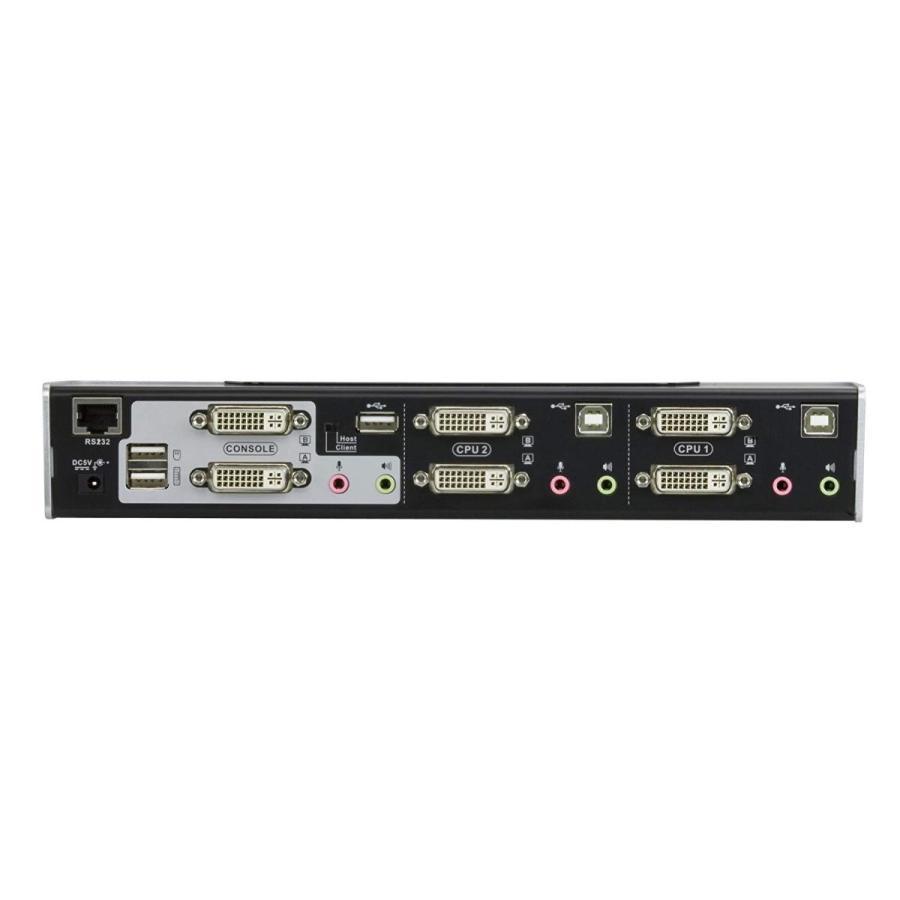 ATEN ATEN製デュアルディスプレイ/オーディオ対応2ポートUSB KVMPスイッチ CS1642A
