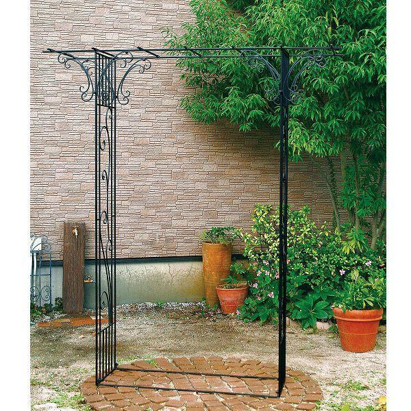 ガーデンアーチ 13 バーゴラ アイアン アーチ 幅180×高205×奥行50 ベランダ ガーデニング ローズ 薔薇 アーチ 誘引 庭園 花壇 送料無料