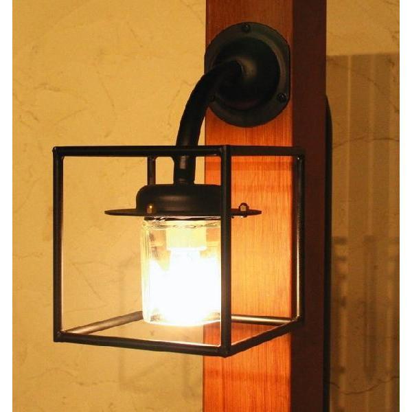 玄関照明 玄関 照明 門柱灯 門灯 外灯 屋外 照明 アイアン クリスタル SR1-CM 門灯 アンティーク風 レトロ ブラケット 照明器具 おしゃれ E17 LED電球 3.5W