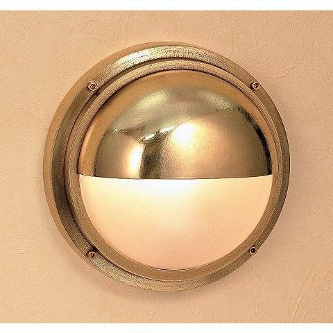 玄関照明 玄関 LED 照明 門柱灯 門灯 外灯  屋外照明 マリンランプ マリンライト bh2225 くもりガラス ブラケット 真鍮 照明器具 おしゃれ E26 LEDランプ 12W