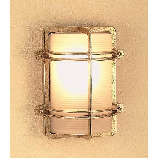 玄関照明 玄関 照明 LED 門柱灯 門灯 外灯  屋外照明 マリンランプ マリンライト BH2373 FR LE くもりガラス 真鍮照明 照明器具 おしゃれ E26 LED電球 12W