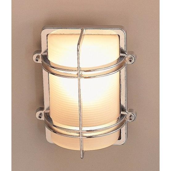 玄関照明 玄関 照明 LED 門柱灯 門灯 外灯  屋外照明 マリンランプ マリンライト BH2373 CR FR LE くもりガラス 真鍮照明 照明器具 おしゃれ E26 LED電球 12W