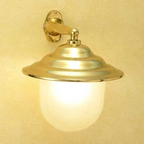 屋外照明 マリンランプ マリンライト 玄関照明 玄関 照明 LED 門柱灯 門灯 外灯  BR2131 FR LE くもりガラス 真鍮 ブラケット 照明器具 おしゃれ E26 LED 12W