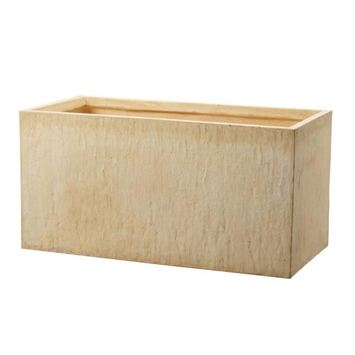 プランター 植木鉢 大型 ファイバープランター ラムダ インド砂岩 100×48.5×48.5cm ガーデニング 園芸用品