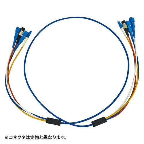 光ファイバーケーブル ロバスト 5m 4芯 SCコネクタ 高強度 シングルモード ブルー HKB-SCSCRB1-05  サンワサプライ 受注発注品 代引き不可