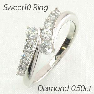 【全商品オープニング価格 特別価格】 ダイヤモンドリング 指輪 レディース ゴールド 18k スイート 10 アニバーサリー 18金 K18 0.50ct, ウェルカム トゥ ザ ワールド 3d456d8e