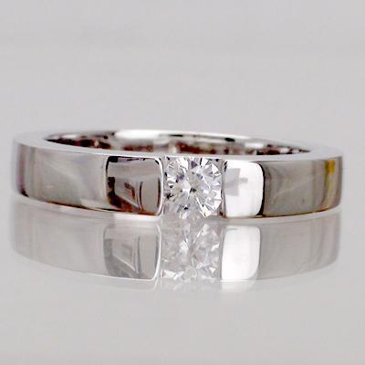 【送料無料(一部地域を除く)】 幅広 ダイヤモンド リング SIクラス ダイヤモンド 0.2ct アップ 指輪 k18ゴールド 18金 レディース アクセサリー, 三石郡 50046692
