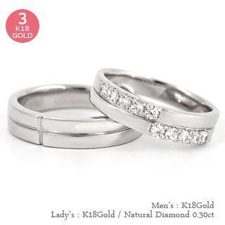 【一部予約販売】 結婚指輪 ペアリング 2本セット ダイヤモンド リング 0.3ct k18ゴールド マリッジリング ブライダル マリッジリング ペアリング 結婚指輪 指輪 18金 レディース, クローバー資材館:b667bf78 --- opencandb.online