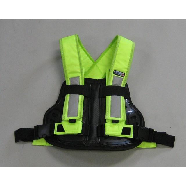 TRP001 TRY1 セイフティプロテクトVベスト ビジビリティベスト 蛍光 チェストプロテクター 胸部パッド 装着簡単 バイク便、新聞配達、宅配業者様にもおすすめ|ethosdesign|02