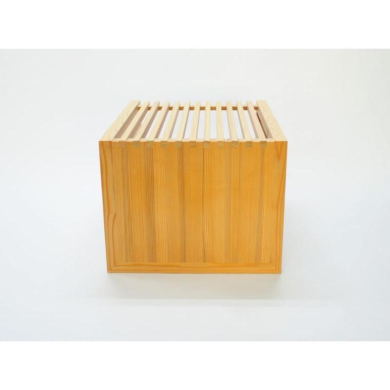 杉 格子 サイドテーブル 縦横使える etosebisuyashop 05
