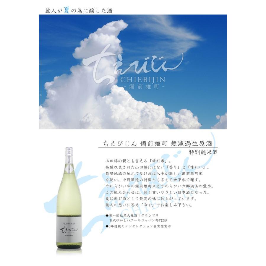 ちえびじん 備前雄町 特別純米 無濾過生原酒 720ml 大分県 中野酒造 etoshin 03